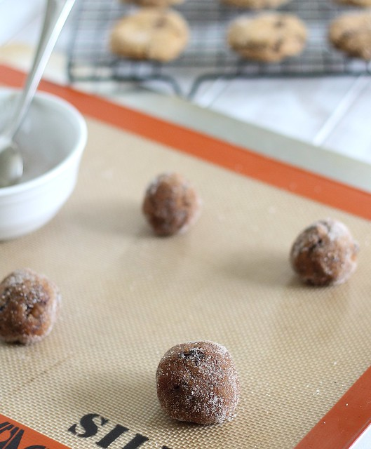 Chocolate chunk molasses gingerbread cookies