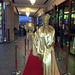 Red Carpet Gold Human Statues