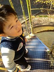 恵比寿公園にて滑り台 2012/12/9
