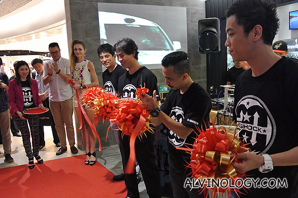 Ribbon cutting to officiate the opening of the store