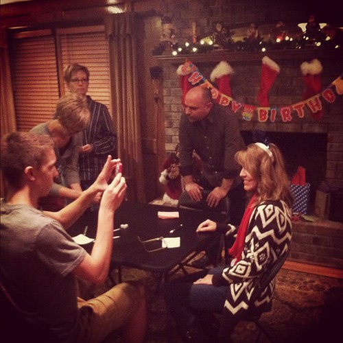 Such a fun night of celebrating a friend turning 50 and a game of Dirty Santa Bunco.