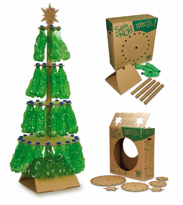 Como hacer un arbol de navidad con materia reciclado - Hacer arbol navidad ...