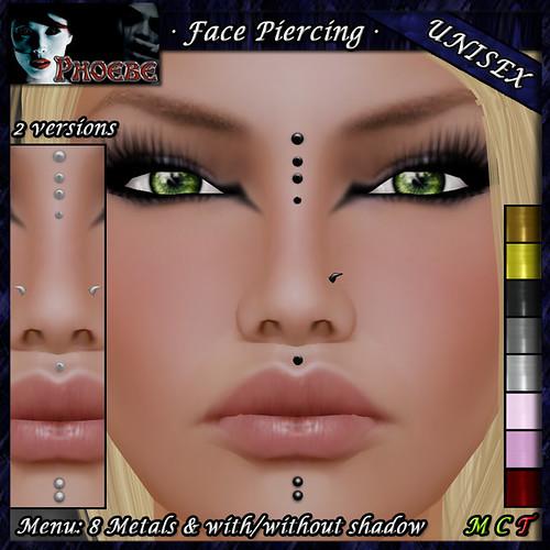 [$70L PROMO] *P* Unisex Face Piercing Q4 ~8 Metals~