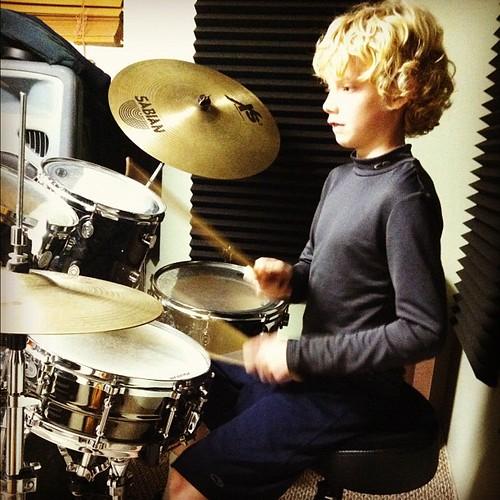 Drum lessons...