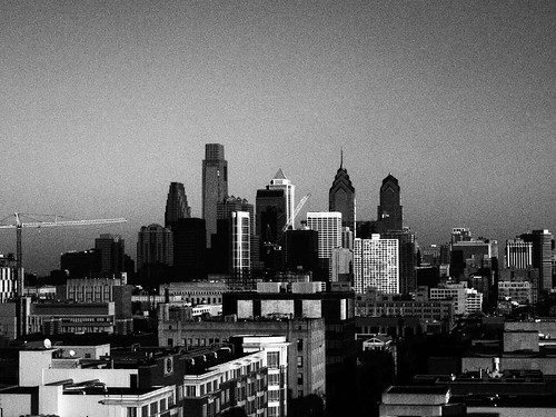 Philly During the Day B&W