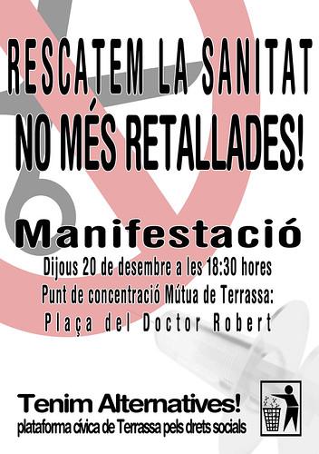 manifestacio sanitat a Terrassa 20 de desembre