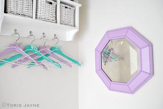 Spray painted mirror