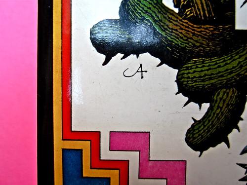 John Alcorn / Alfonso Vinci, L'acqua la danza la cenere, Rizzoli 1973. Prima di sovracoperta (part.), 1