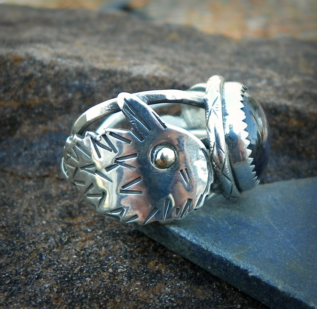 Morigans Favor Star Shire In Sterling Silver Trinity And Crow Ring