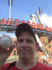 All was not lost, I got a ball autographed by three Iowa Cubs players