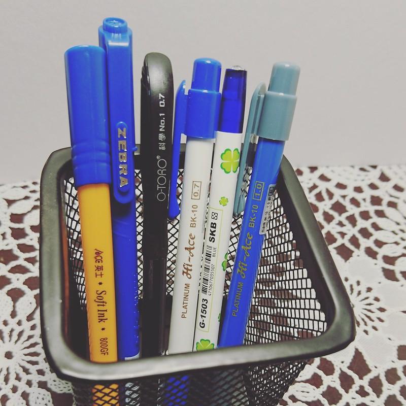 市面上各種藍筆