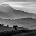 Colline di San Severino Marche e il monte San Vicino by Luigi Alesi