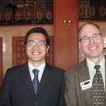 IWU Career Center Director Warren Kistner with IWU student Tung Hoang --
