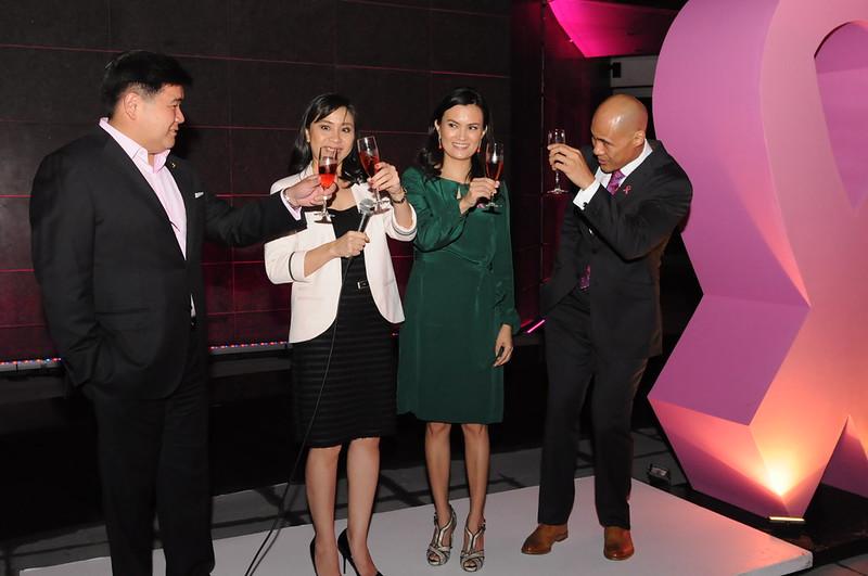 Rustan's Anton Huang, Estee Lauder's Mel Lerma, Daphne Osena-Paez and Rovilson Fernandez 4