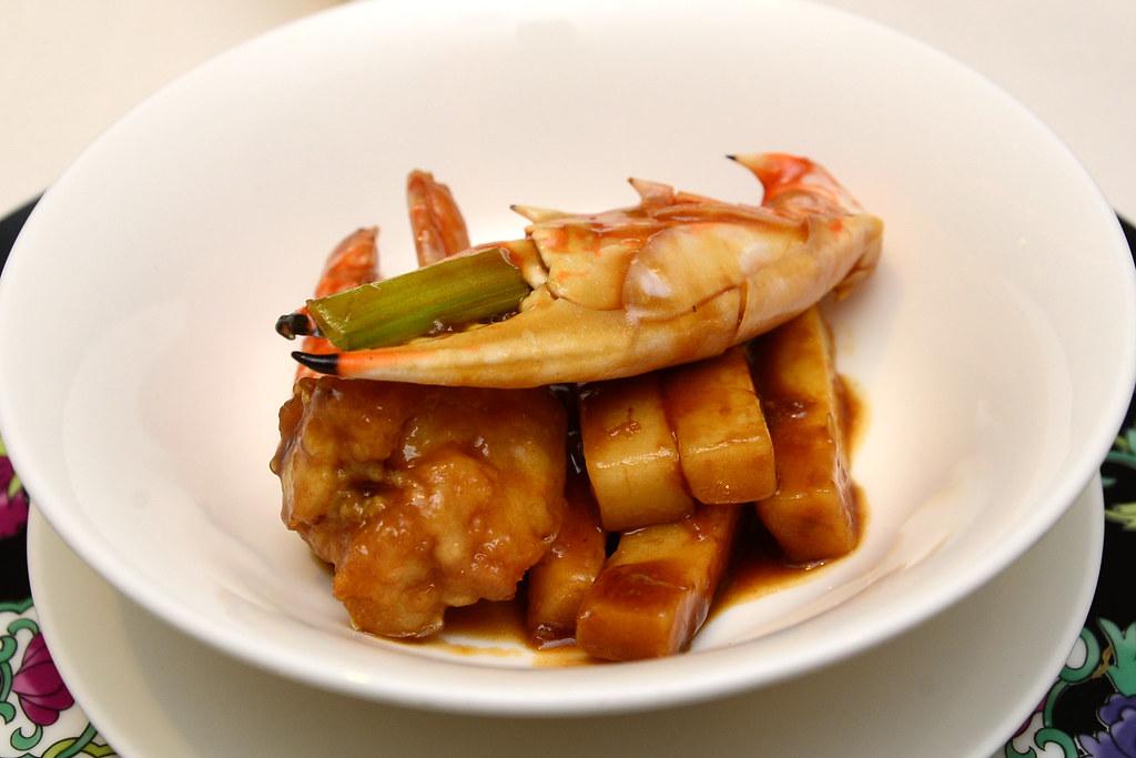 台北君悅正宗寧波料理 - 寧波年糕炒花蟹