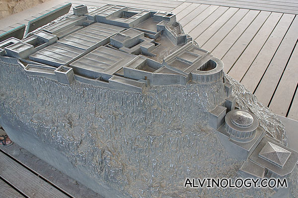 Scale model of King Herod's palace