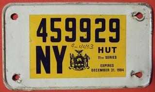 NEW YORK 1982-84 ---SERIES 11 TRUCK MILEAGE TAX STICKER