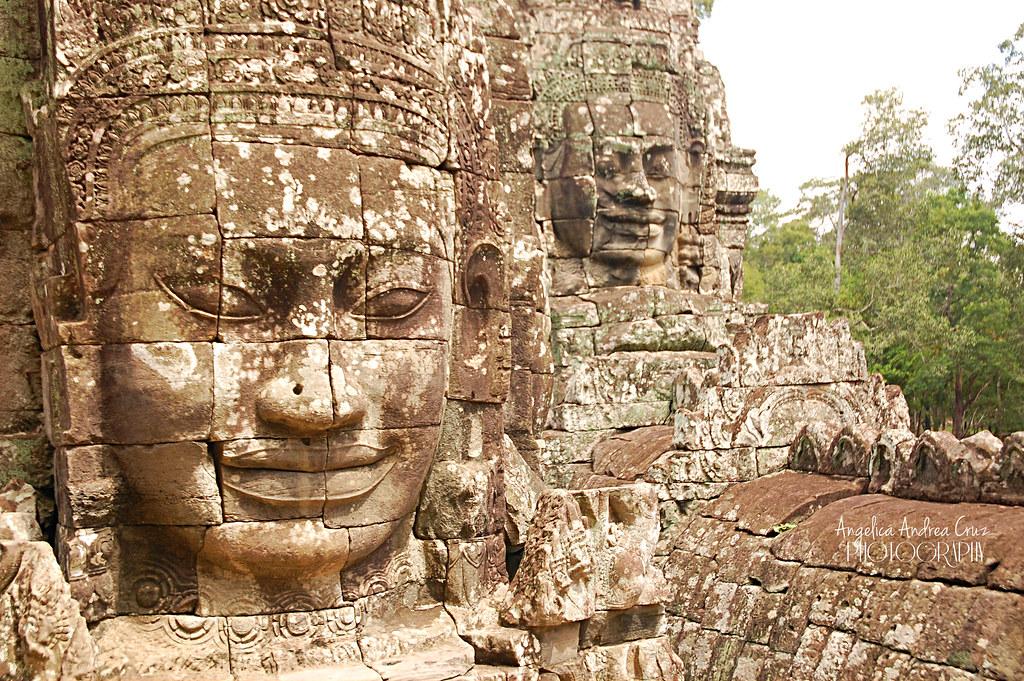 Bayon Buddha Faces