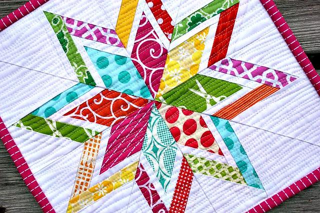 Lone Starburst Mini Quilt