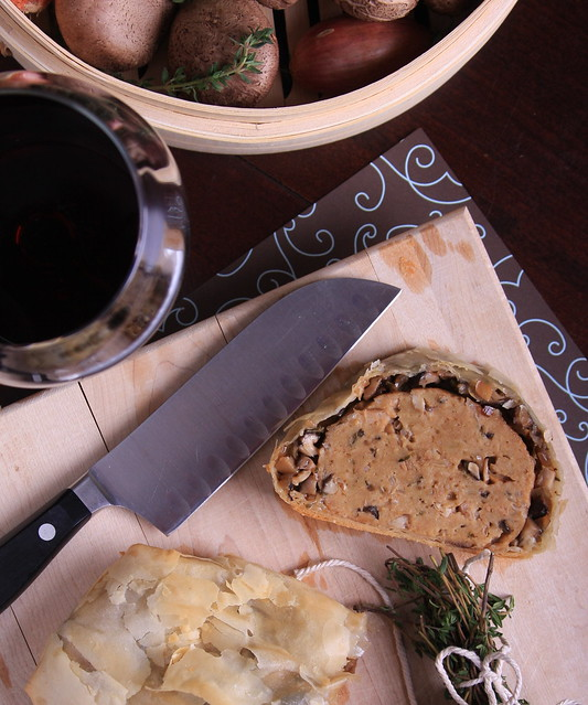 Shallot and Shiitake Seitan Wellington