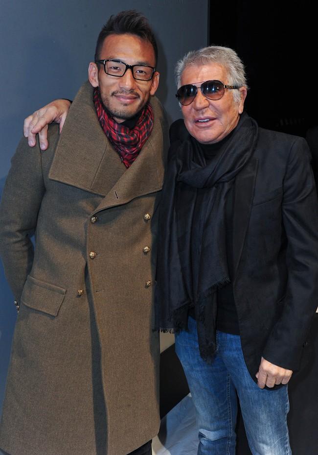 4 Hidetoshi Nakata - Roberto Cavalli @ Roberto Cavalli Menswear AW1213 fashion show 14-01-2011 Milan