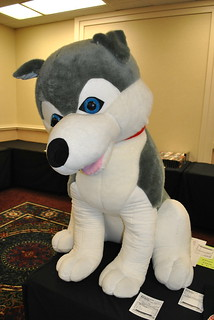 Giant husky plush