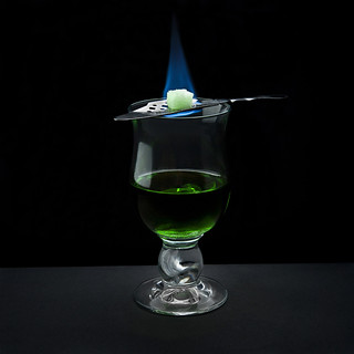 The bohemian method of serving absinthe
