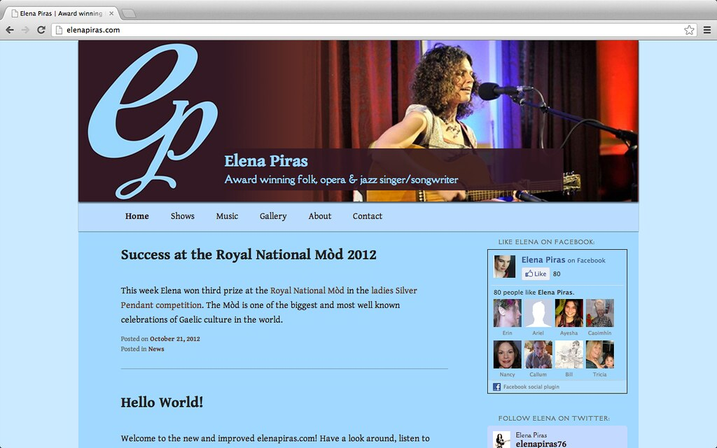 screenshot of elenapiras.com