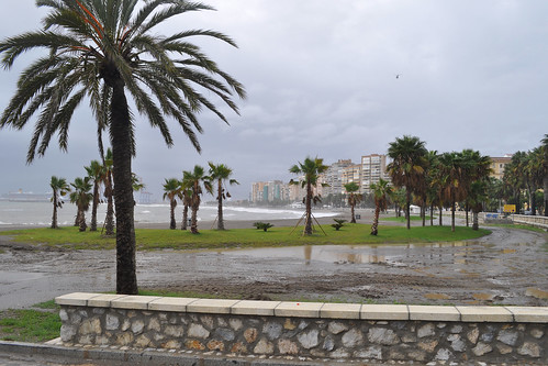 Rainswept Malagueta beach