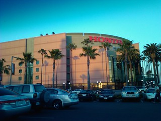 view of the Honda Center in Anaheim California USA