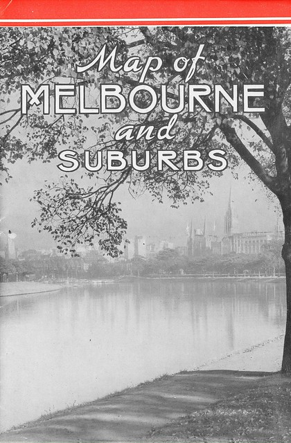 Map of Melbourne and Suburbs - 1939 Victorian Railways Map: Front Cover