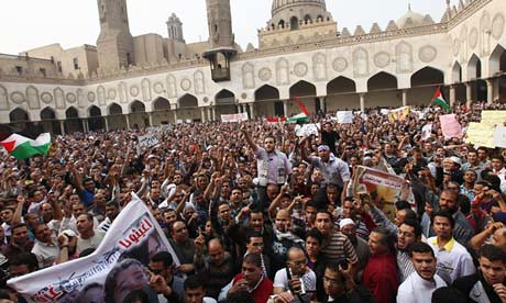 Demonstration organized in Cairo, Egypt on November 16, 2012 to protest the renewed Israeli Defense Forces attacks on Gaza. The Egyptianw had declared a day of protest. by Pan-African News Wire File Photos