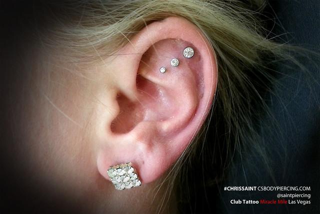 Triple Ear Cartilage Piercing by Chris Saint | Flickr ...