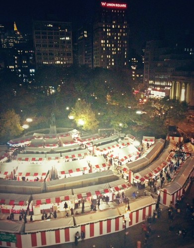 View of the @UrbanSpaceNYC Holiday Market @UnionSquareNY #NYC #NewYork