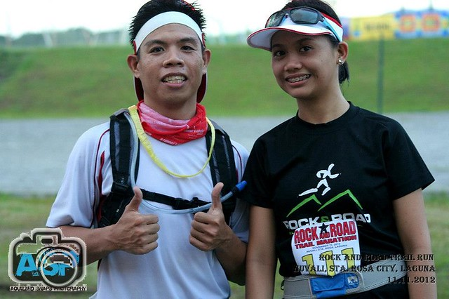 with my running buddy