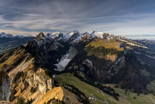 morning sky sun mountain mountains berg clouds landscape schweiz switzerland nikon day suisse himmel wolken berge viewpoint landschaft sonne morgen hitech kasten appenzell säntis alpstein altmann hoher sämtisersee innerrhoden d800e pwpartlycloudy