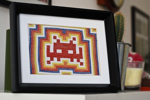 Space Invader Cross Stitch