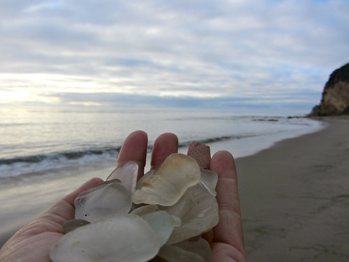 sending the sea glass back to the sea