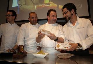 Los cuatro cocineros protagonistas.