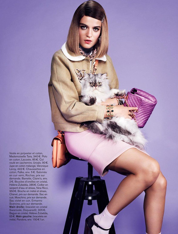 High Society Rintje van Witjick as Margot Tenenbaum Glamour France Nov 2012 7