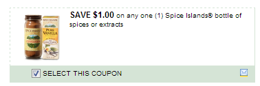 $1.00/1 Spice Islands Bottle Of Spices Or Extracts Coupon