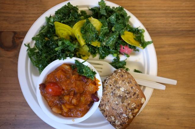 ... Radish | Vegetarian chile, kale salad,… | Flickr - Photo Sharing