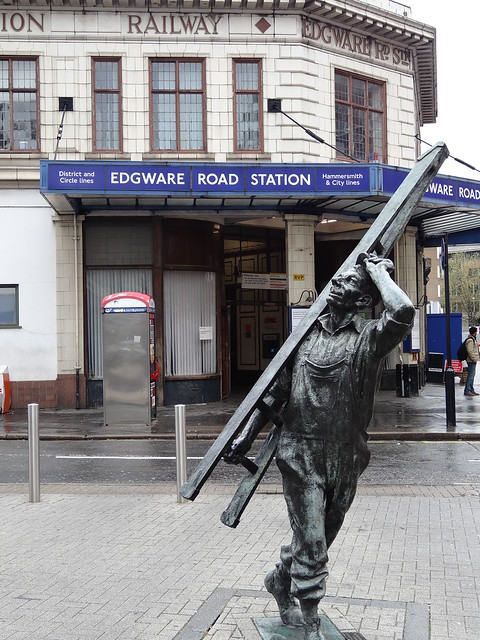 Looking Up Edgware Road Station