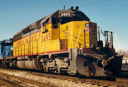 Union Pacific freight train.  Alsip Illinois.  November 1989. by Eddie from Chicago