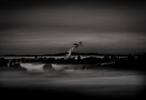 morning trees blackandwhite abstract mountains water fog oregon sunrise cascades vista dreamy impressionistic factories sauvieisland