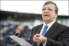 EC President José Manuel Barroso taking the floor
