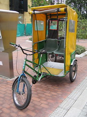rickshaw, vehicle, land vehicle, tricycle,