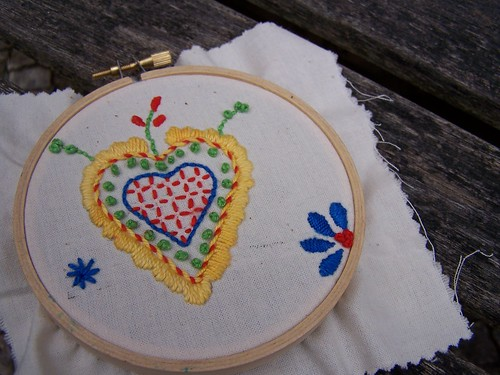 Viana's Heart emboidery kit