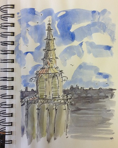 Steeple of my mind... by Joe Mraz Watercolors