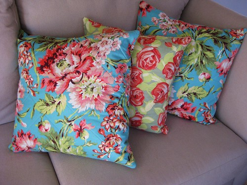Cushions for Tom and Corrie. A wedding gift.